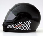 Nordschleife Chequered Flag Decal Set on Helmet left side