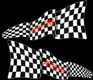 Nordschleife Chequered Flag Decal Set