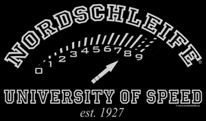 "T-shirt print ""NORDSCHLEIFE� UNIVERSITY OF SPEED est. 1927"""