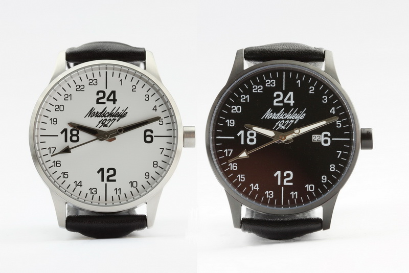 Nordschleife® 1927 SPEEDBLACK and SPEEDWHITE EDITION 24 hour watches